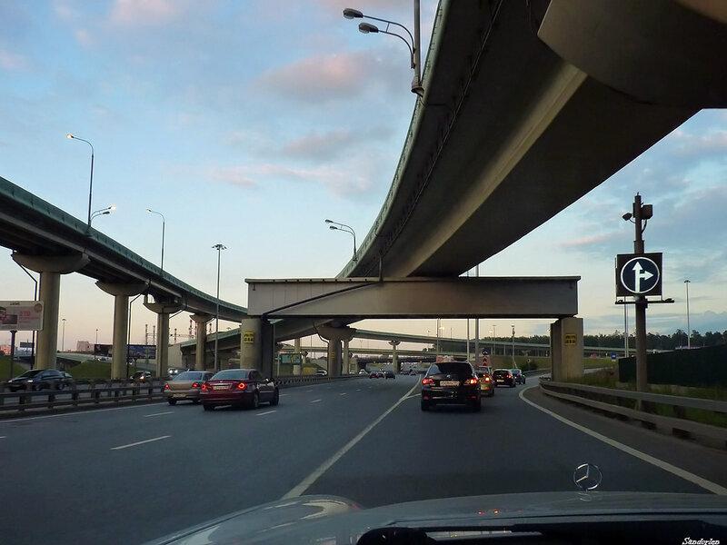 izus мкад москва новорижское развязка шоссе.