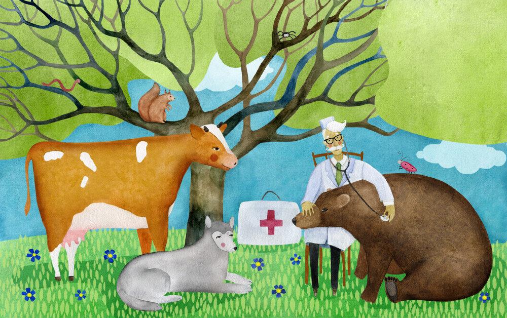 для использования коровы и ветеринар стихи с картинкой первые