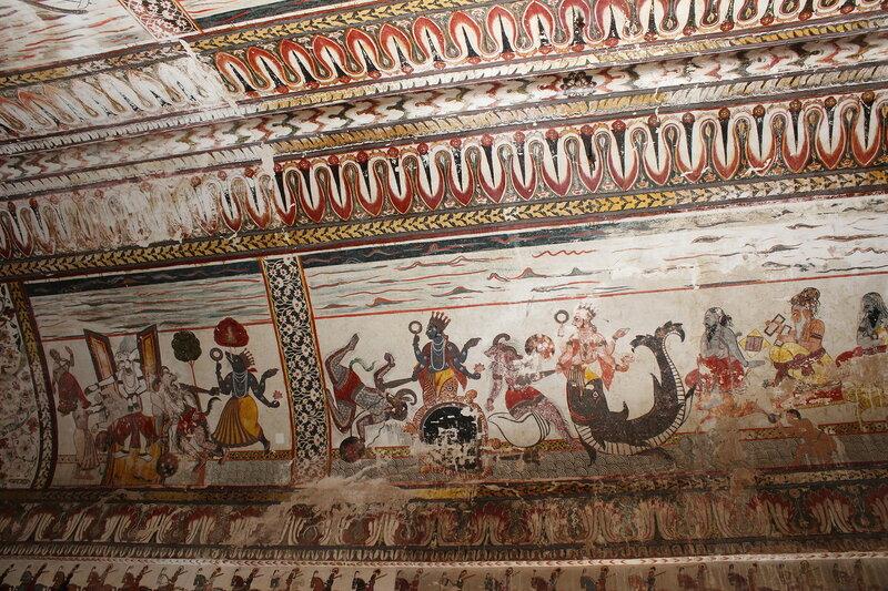Джахангир-Махал,  сохранившиеся фрески