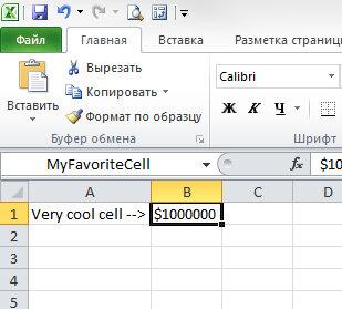 Трюк №39. Что такое адресация данных по имени в ячейках таблиц Excel?
