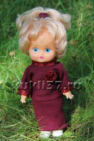 костюм для куклы с длинной юбкой