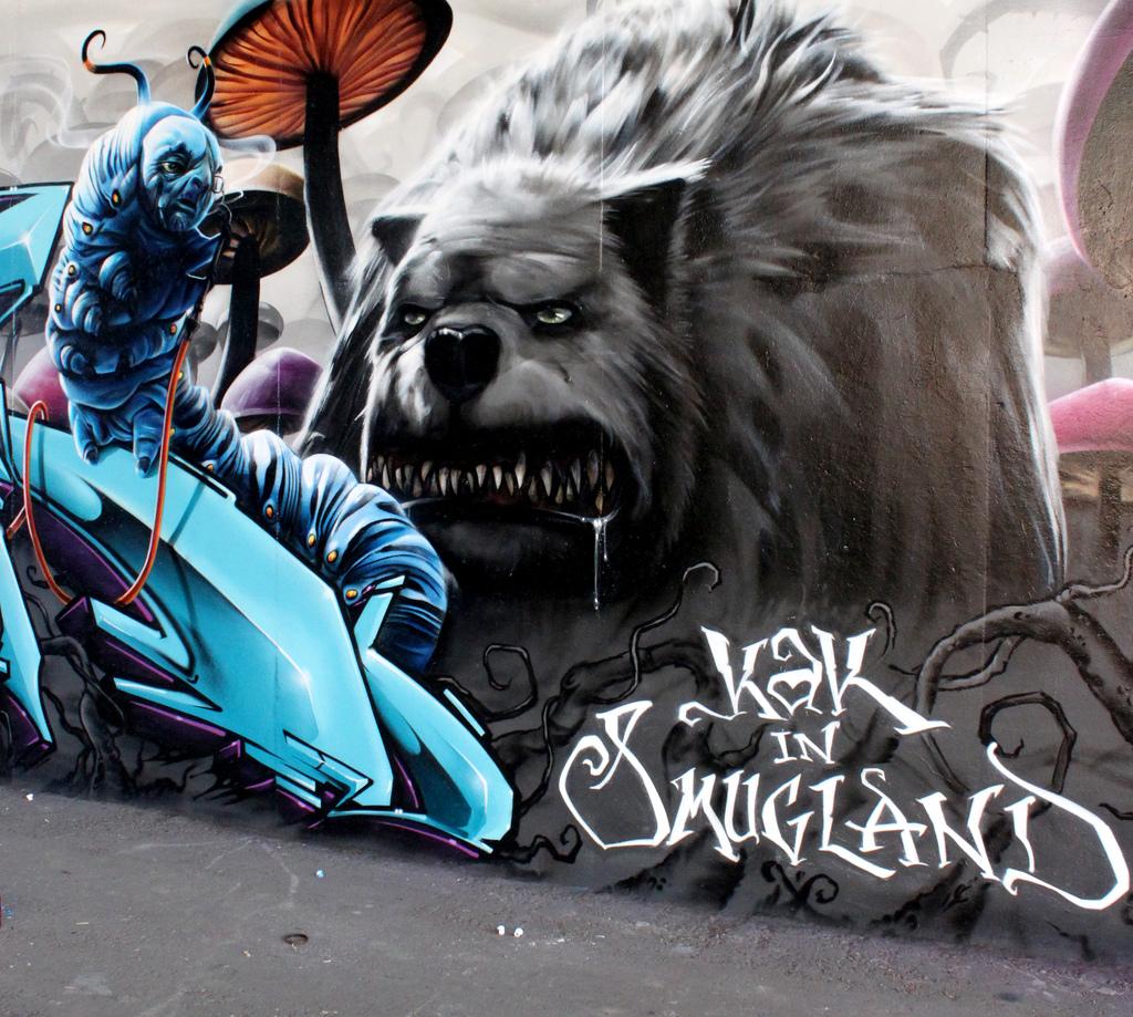 Потрясающий стрит-арт by Smug