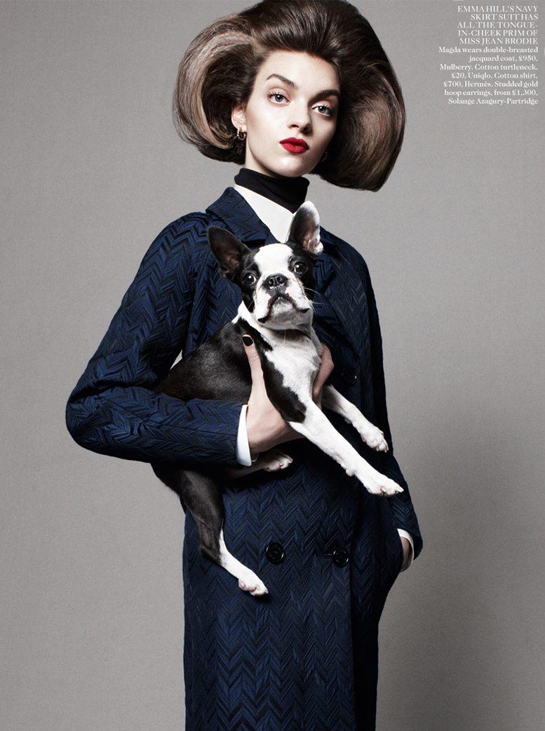 Best In Show - Magda Laguinge / Магда Лагуин, фотограф Daniel Jackson в журнале Vogue UK, август 2012
