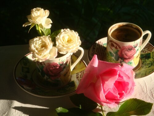 кофе и розы