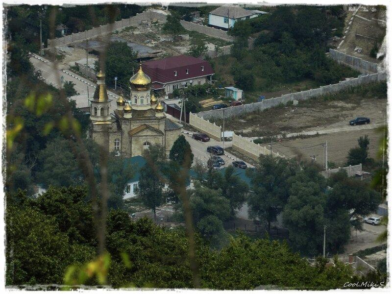 Село Адербиевка, вид с горы Олимп
