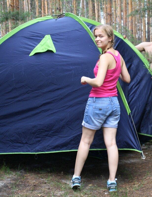 День рождения в палатке