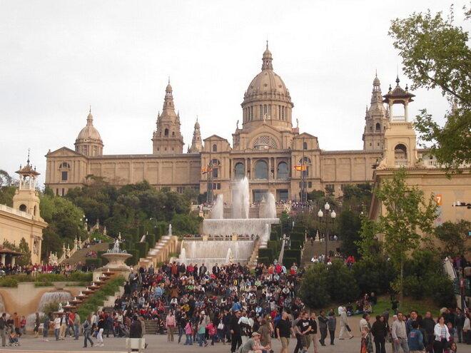 Магический фонтан Монтжуик. Барселона, Испания
