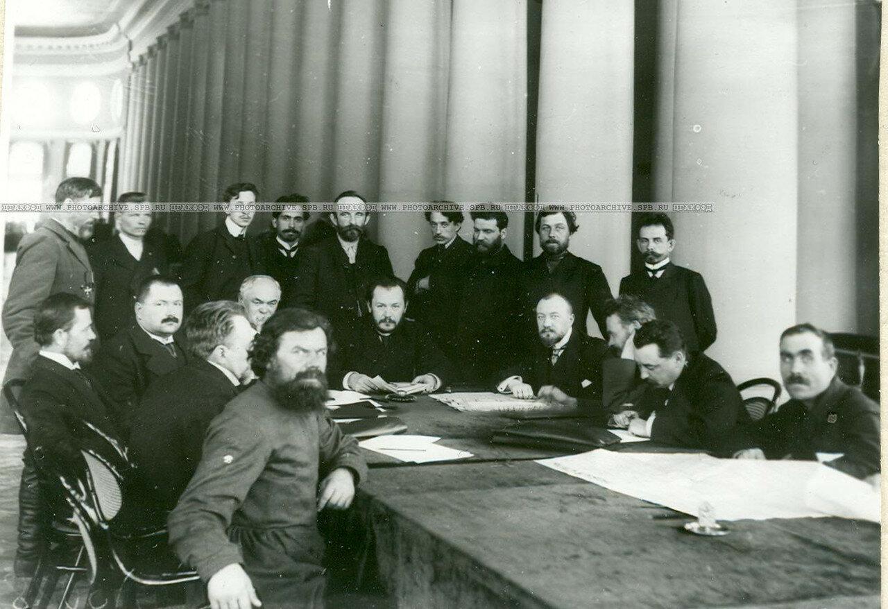 Заседание членов 2-й комиссии третьего отдела по проверке полномочий депутатов Второй Государственной думы