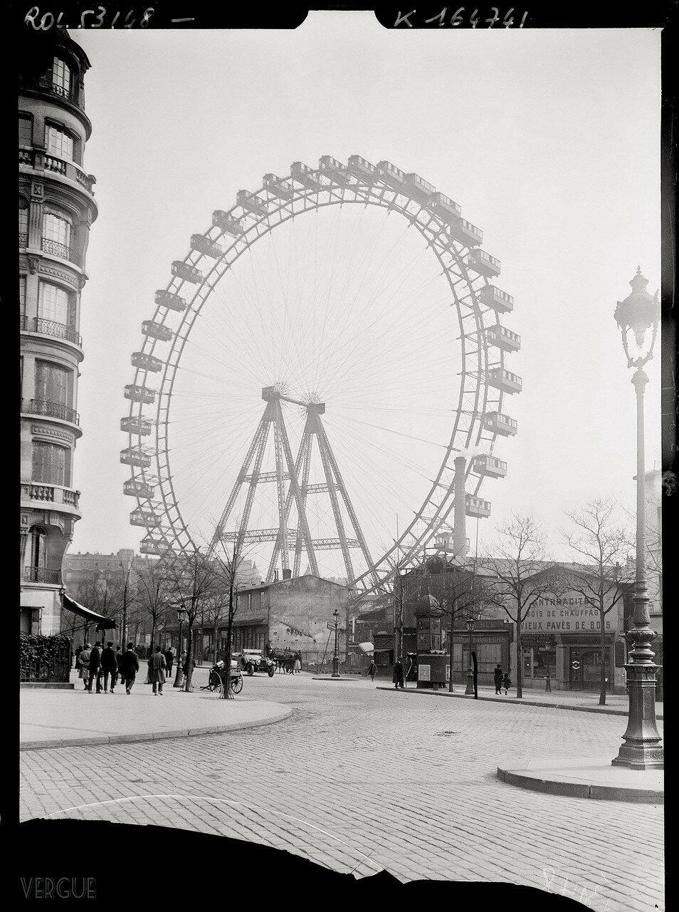 1919. Колесо обозрения, авеню Сюффран
