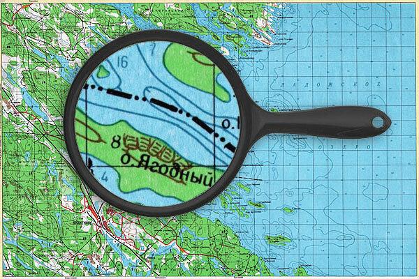 Кузнечное - карта глубин