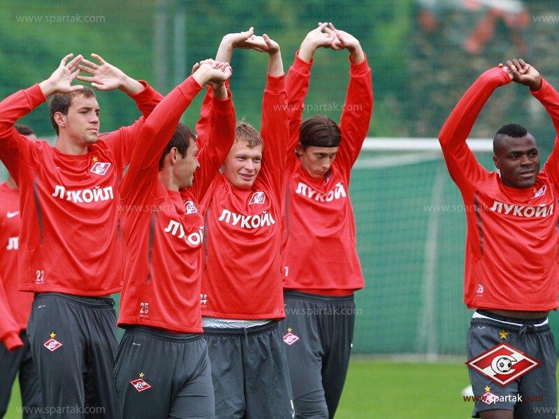 Тренировка «Спартака» после матча с «Викторией» (Фото)