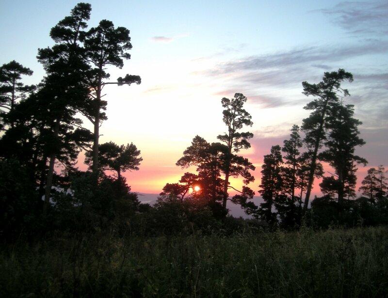Закат на Княжеской поляне