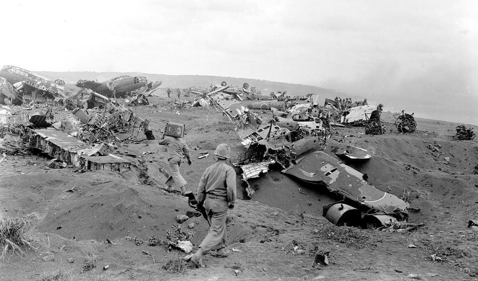 WWII IWO JIMA U.S. MARINES