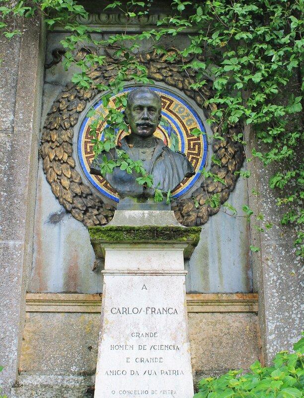 Синтра, Памятник Карлосу Франца. Sintra. Carlos Franca monument