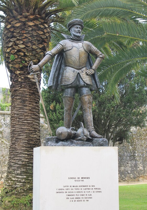 Cascais, monument to Duarte di Menezes. Cascais, Duarte de Menezes monument