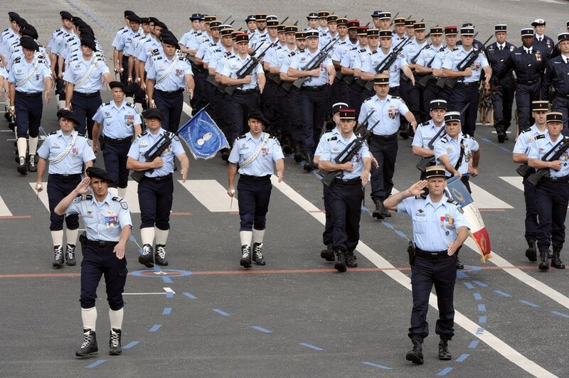 French gendarmes take part in the annual