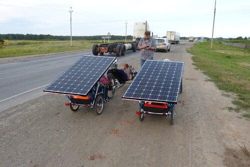 солнечные батареи на веломобиль фото