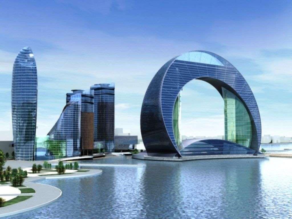 3. The Crescent Hotel — отель в виде арки Столица Азербайджана Баку не перестает удивлять всех своим