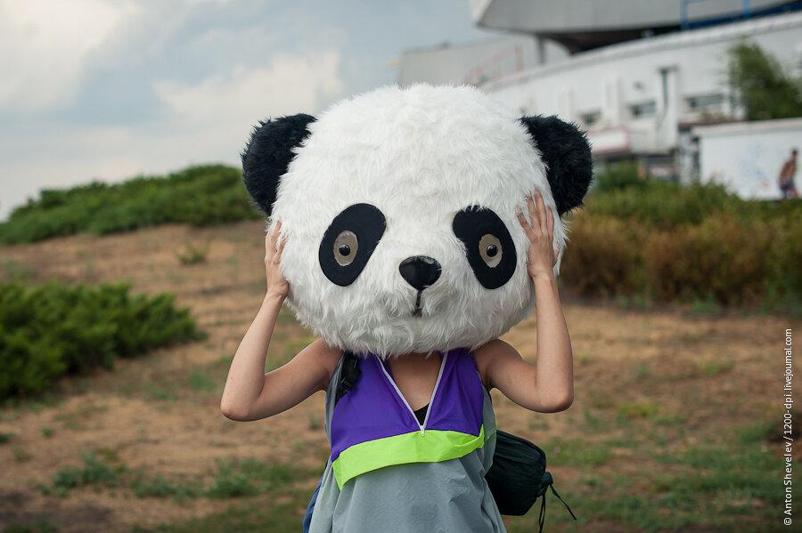 Фото девушка с пандой