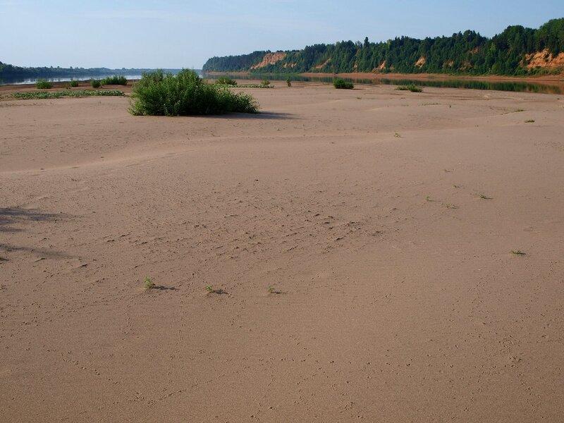 дюны и барханы песчаного острова