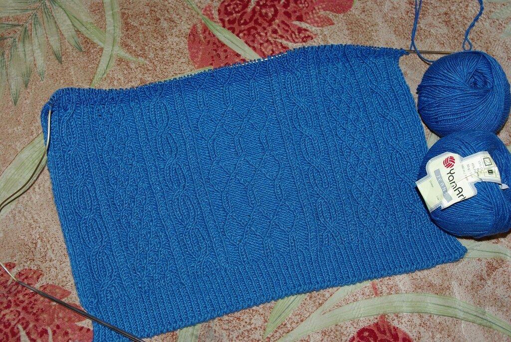 Вязание на спицах джинсы 104