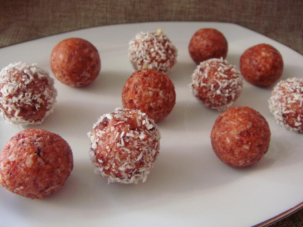 Постные конфеты-рафаэллки