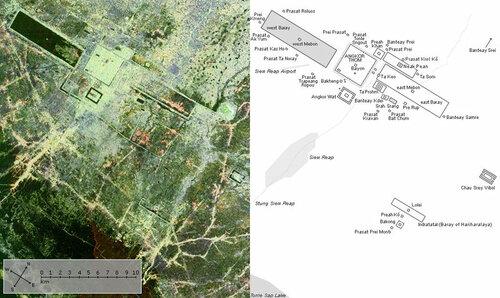 карта храмов ангкора, ангкор вид сверху