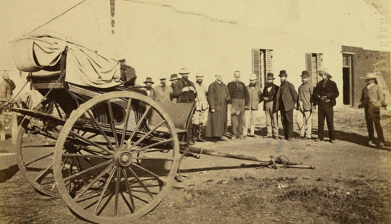 Британцы и буры  с коляской в апреле 1879