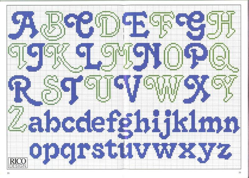 """Оригинал - Схема вышивки  """"ABC """" - Схемы автора  """"lukrecija12 """" - Вышивка крестом."""