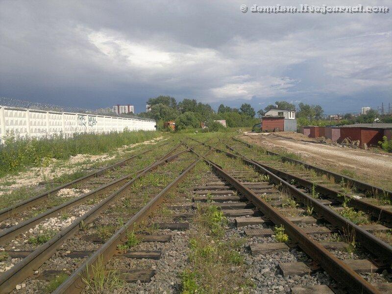 Подъездные пути от станции Ховрино.