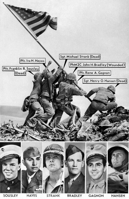 IWO JIMA FLAG RAISING WRONG NAME
