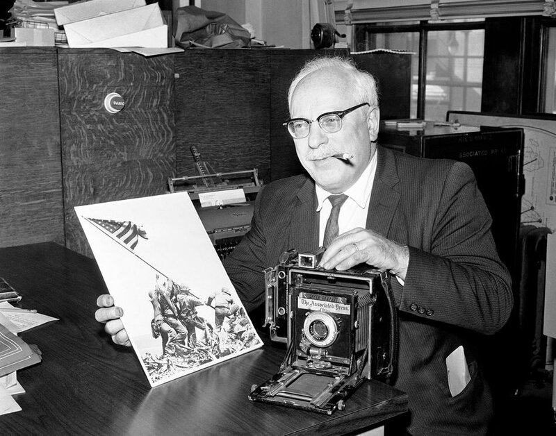 Joe Rosenthal With Famous Photo 1965