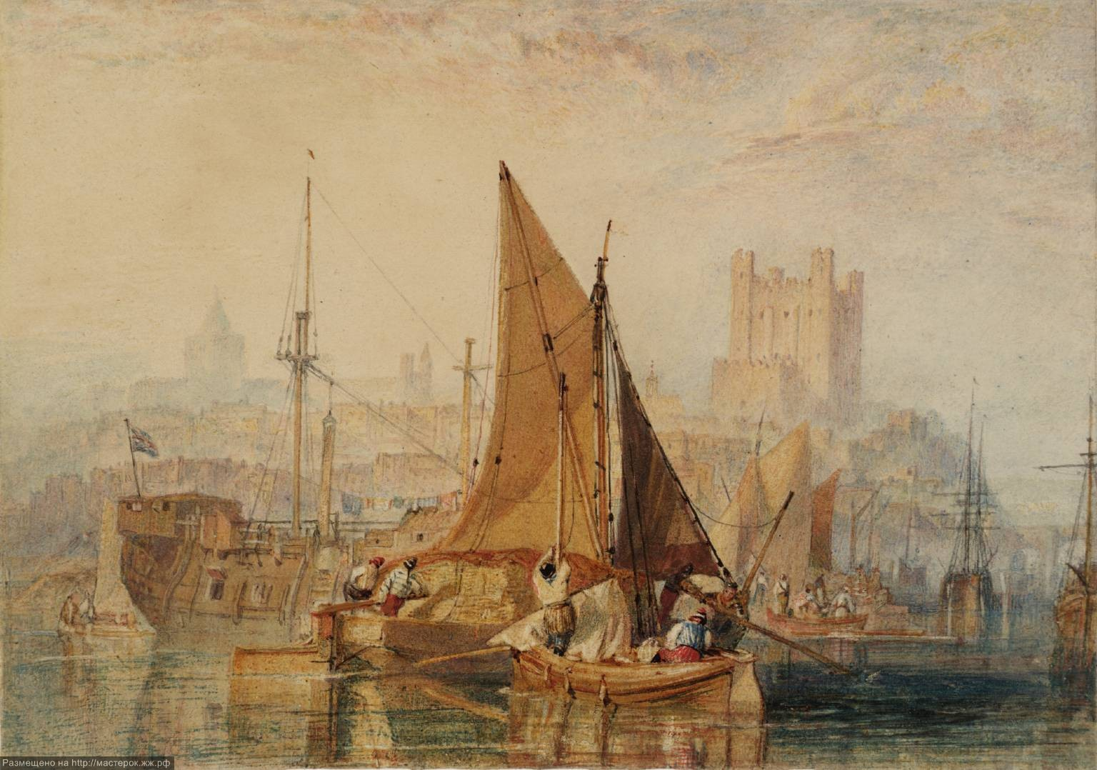 Rochester, on the River Medway 1822 by Joseph Mallord William Turner 1775-1851