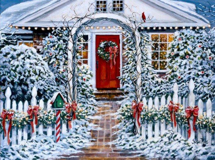 Название: Christmas Eve Название на русском: Коротко о картине: Дата создания.  Теги.  Найти в. Цикл картин...