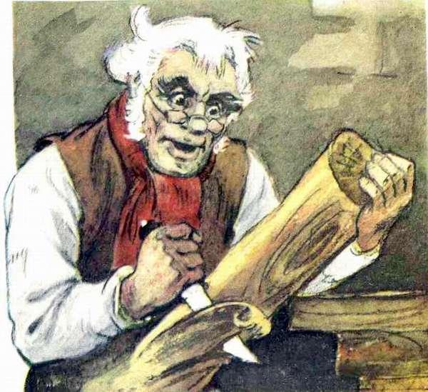С днем мебельщика! Папа Карло вырезает из полена открытки фото рисунки картинки поздравления