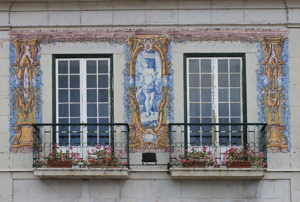 Cascais Town hall ceramic panels. Кашкайш. Ратуша Керамические панно