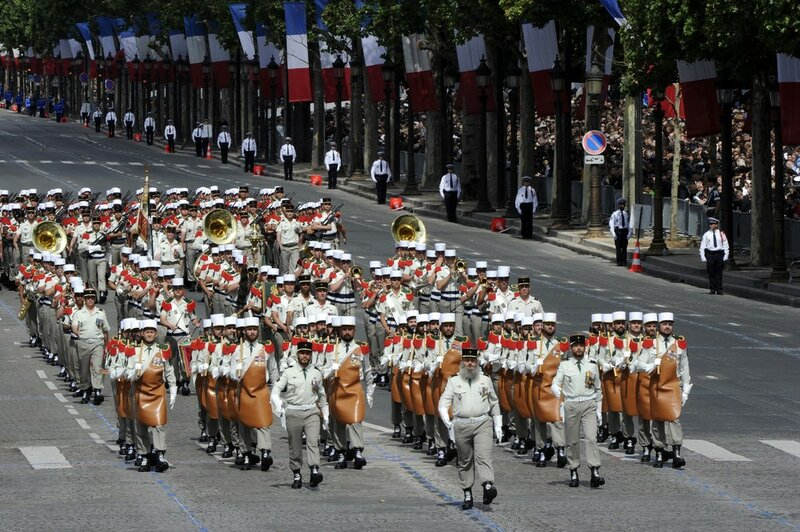 Soldiers from French Foreign Legion take