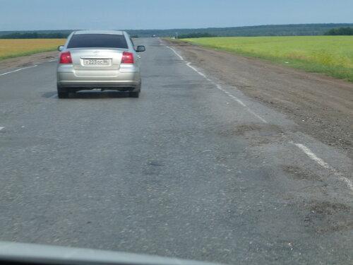 Трасса Тюмень-Омск скучная и не самого лучшего качества