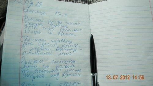пока едем домой - пишу стихи
