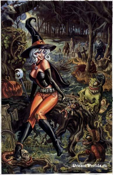 Ведьмы и колдуньи на картинках