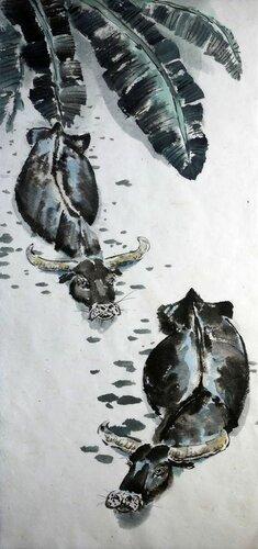 2014 06 25 Водяные буйволы 75х33см.JPG