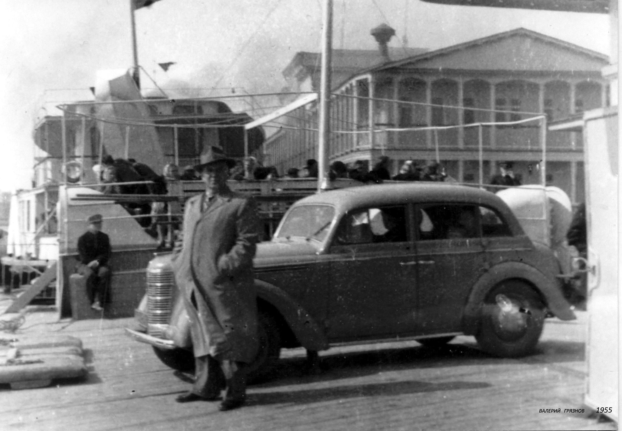 1955. На палубе ВОЛГАРЯ.  Дальнее Устье