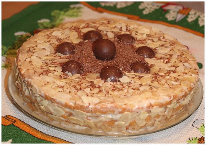 медовый торт с банановым кремом фото рецепт