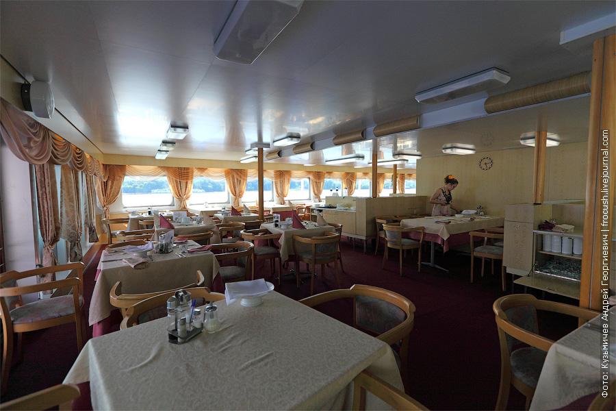 Корма средней палубы. Ресторан «Волга». теплоход Федор Достоевский