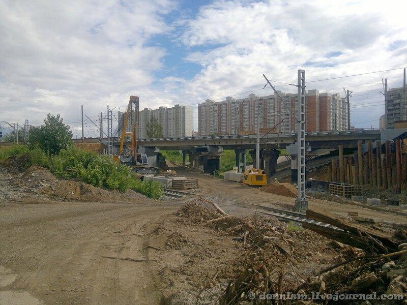 Путепровод в районе станции Ховрино.