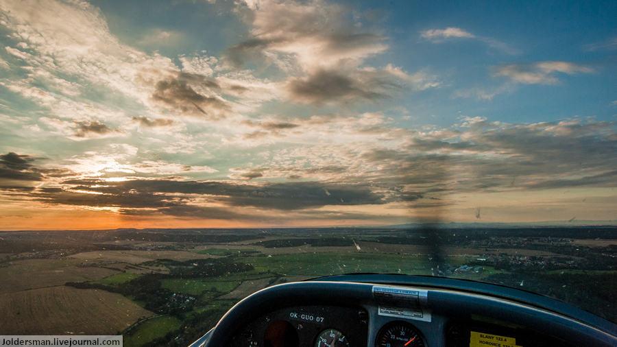 Панорама Чехии - вид с самолета