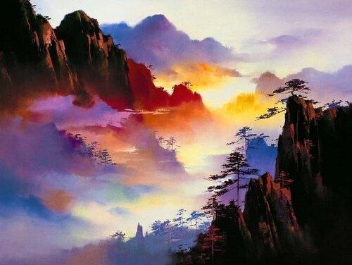 Завораживающие пейзажи глазами китайского художника Hong Leung...