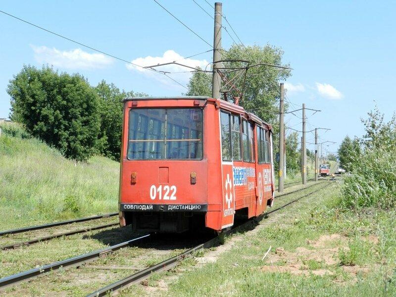 Набережные Челны, трамвайный вагон 0122.