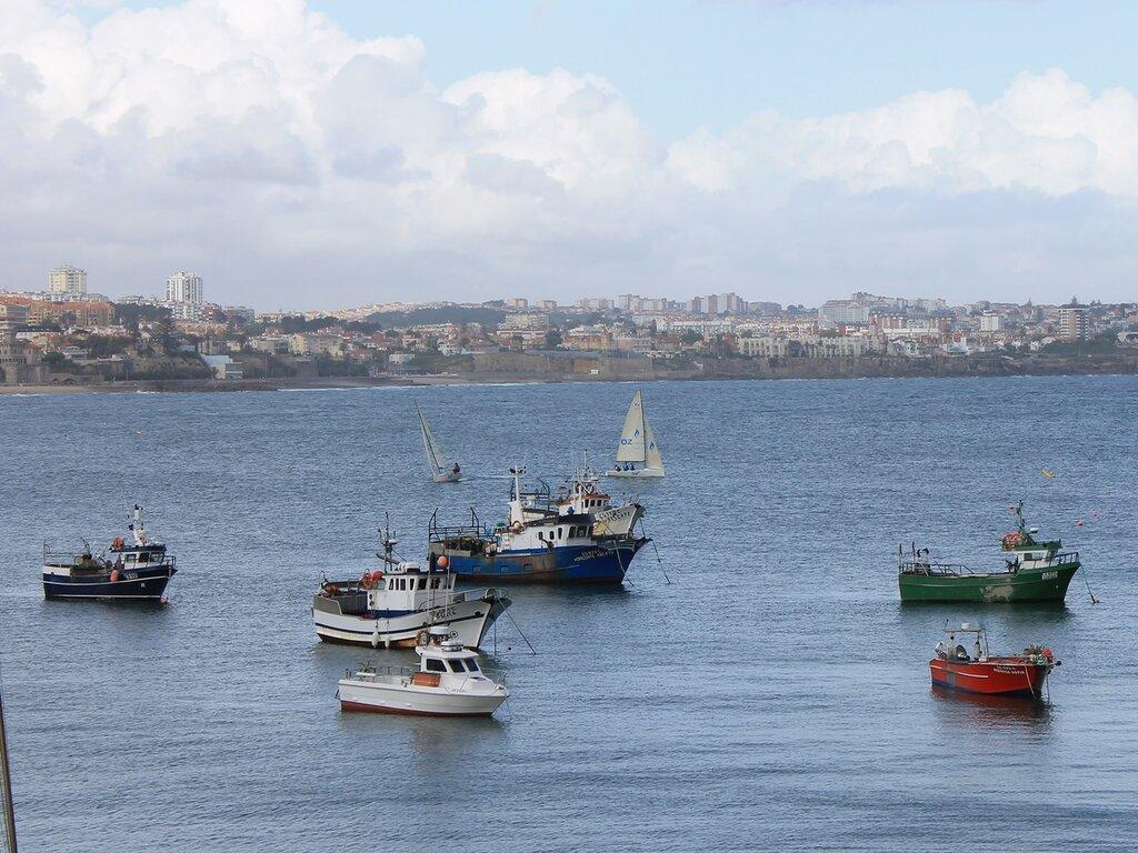 Бухта Кашкайш. Рыбацкие лодки