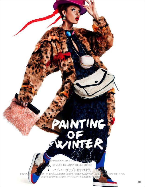 Джоан Смоллс (Joan Smalls) в журнале Vogue Japan (14 фото)